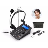 Telefone Headset Headfone Gravador De Voz E Música De Espera