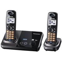 Telefone Sem Fio Para 2 Linhas Panasonc Kx-tg9322 Com Ramal