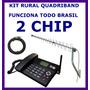 Kit Telefone Celular Rural Unico Que Funciona Em Todo Brasil