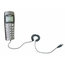 Skype Phone Lobos Free Usb Prata