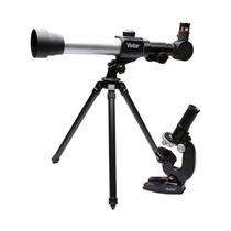 Kit Telescópio E Microscópio 600x Vivitar Vivtelmic20 Luneta