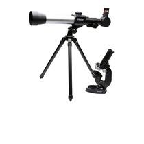 Kit Infantil Telescópio C/ Refração 20x/30x/40x E Microscópi