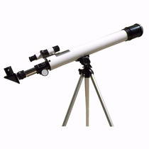 Luneta Telescópio Astronômico Lente 50x 100x Tripé Aluminio