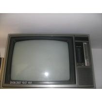 Tv Antiga Colorida Da Década De 80, Funcionando.