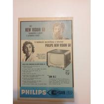 Cartaz Propaganda De Televisao Philips Ano 1958