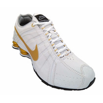 Tênis Nike Shox Junior, Dourado, Quatro Molas