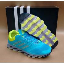 Lindo Adidas Springblade Drive Azul Bebê, Verde Fluorescente