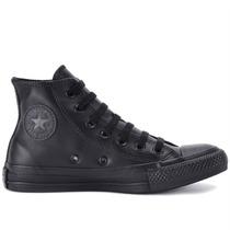 Tênis Converse All Star Ct As Monochrome Leather Hi Preto Ct