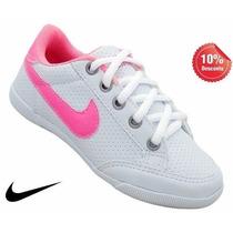 Sapatênis Feminino Infantil Nike Branco E Rosa Colorido !!!