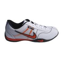 Tênis Nike Fit Branco E Laranja Mod:10098
