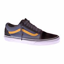 Tênis Vans Old Skool Azul E Amarelo Masculino Original