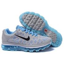 Nike Air Max 2011 Azul Bebe Com Cinza 100% Original
