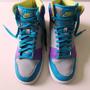 Nike Dunk High Cano Alto Original Cinza/violeta/azul Nº 39