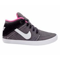 Tênis Feminino Nike Suketo Cano Médio Preto E Rosa