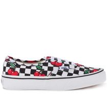 Tênis Vans Authentic Cherry Checkers Black True White Vn-00a