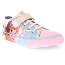 Tênis Infantil Feminino Disney Frozen Com Velcro 24 Ao 32