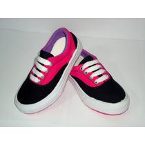 Tenis Skate Feminino Menina Infantil Pink Preto Promoção 295
