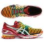 Tênis Asics Kinsei 5 Gel Running Masculino Vermelho Laranja