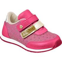 Tenis Infantil Feminino Pampili Velcro 135001 17 A 24 Rosa