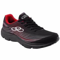 Tenis Masculino Olympikus Spin Preto/vermelho Snob Calçados