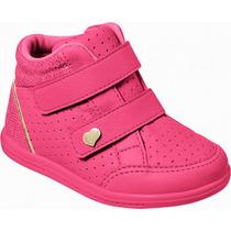 Tenis Infantil Feminino Pampili Velcro 402062 18 A 27 Rosa