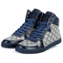 Sneaker Gucci Azul Com Solado Azul- Boot - Tênis - Lv