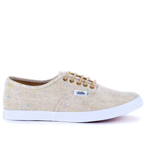 Tênis Vans Authentic Lo Pro Speckle Linen Tan Vn-0w7nflg