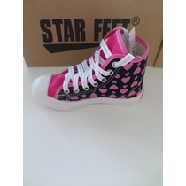 Tênis Infantil Feminino Cano Alto Star Feet