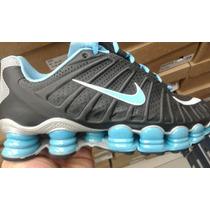 Tênis Nike Tlx 12 Molas Na Caixa + Meia Da Nike