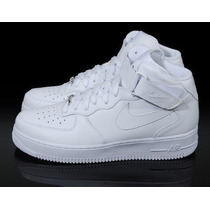 Nike Air Force Cano Alto Mid One 1 White Skate Toda Hora +