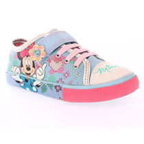 Tênis Infantil Feminino Disney Minnie Com Velcro 22 Ao 27