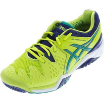 Tênis Asics Gel Resolution 6 2016 Limão Tennis, Squash