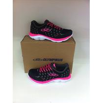 Tênis Esporte Feminino Olympikus Flix Preto/rosa Original