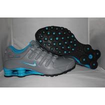 Tenis Nike Shox Nz Masculino Cinza/azul- Original