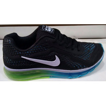 Tenís Nike Air Max 2014 Azul Infanto Juvenil Do 33 Ao 43