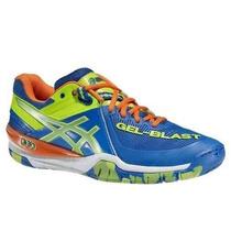 Tênis Asics Gel Blast 6 Blue/neon Tennis, Squash, Handbol