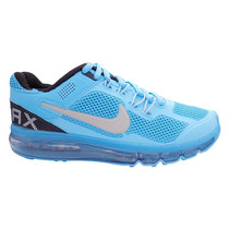 Tênis Nike Air Max 2013 Azul Bebê E Prata ***frete Gratis