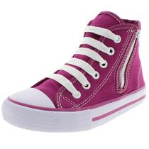 Tênis Infantil Feminino Cano Alto Pink - 30ss033 Starzinh