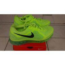 Tenis Nike Air Max 2014 Verde Limão Original Nº43