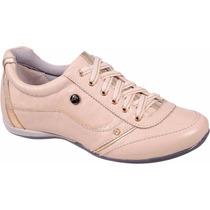 Sapatênis Feminino Couro Moda Fashion Sapatilha Sapato Scarp