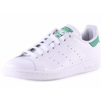 Tênis Adidas Stan Smith Sneaker Branco Verde Preto, Imediato