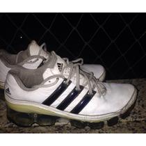 Tênis Adidas Bounce Couro Branco Com Azul Usado Original 39