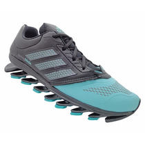 Tênis Feminino Adidas Springblade 2015 Preto E Verde Água