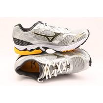 Tênis Mizuno Wave Saber Sa(corrida/caminhada) Prata/amarelo