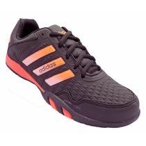Tênis Sapatenis Calçado Sapato Adidas F500 Preto E Laranja