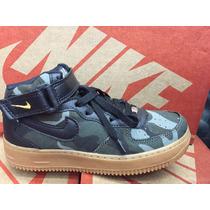 Bota Nike Air Force Mid 2 Militar Camuflado !