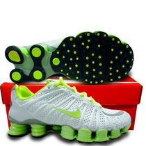 Nike Shox Tlx (12 Molas) - Branco / Verde - Frete Grátis