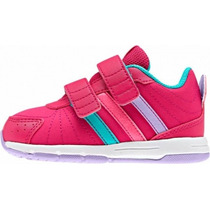 Tenis Infantil Feminino Adidas Velcro M20468 Snice Rosa Pink