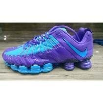 Tenis Nike Shox Tlx 12 Molas Roxo E Azul Nº34 Ao 39 Original
