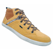Tênis Calvin Klein Cano Médio Amarelo Mod:13065